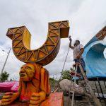 MANTA  | Esculturas gigantes adornarán el malecón durante el feriado de carnaval