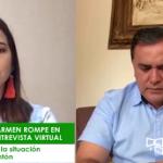EL CARMEN    Alcalde Rodrigo Mena  llora por temor al coronavirus. Pide a sus habitantes no salir de casa