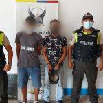 ESMERALDAS ▮ Capturan a dos individuos por el delito de robo con violencia