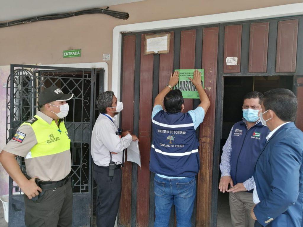 En Manta suspenden y clausura de espacios destinados al trabajo sexual
