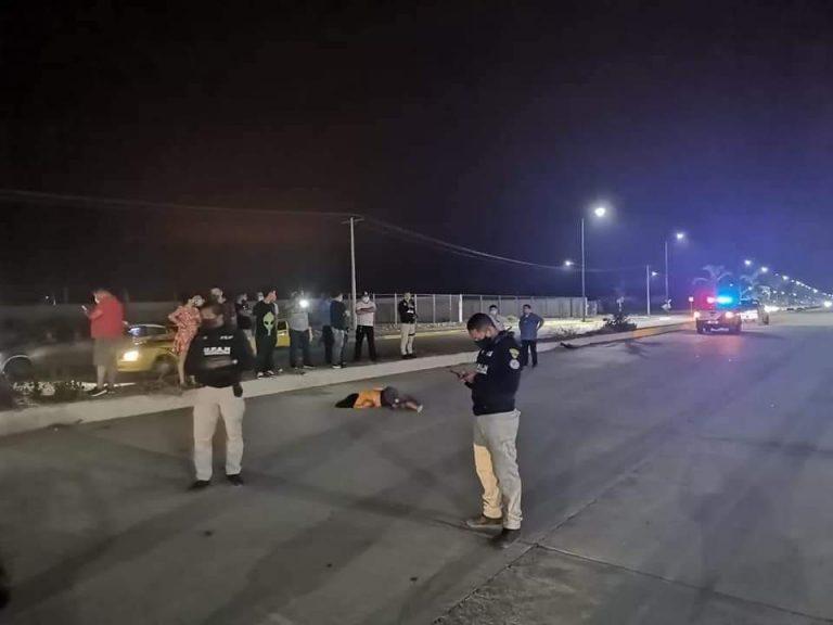 En Machala, pareja muere en accidente de tránsito frente al terminal